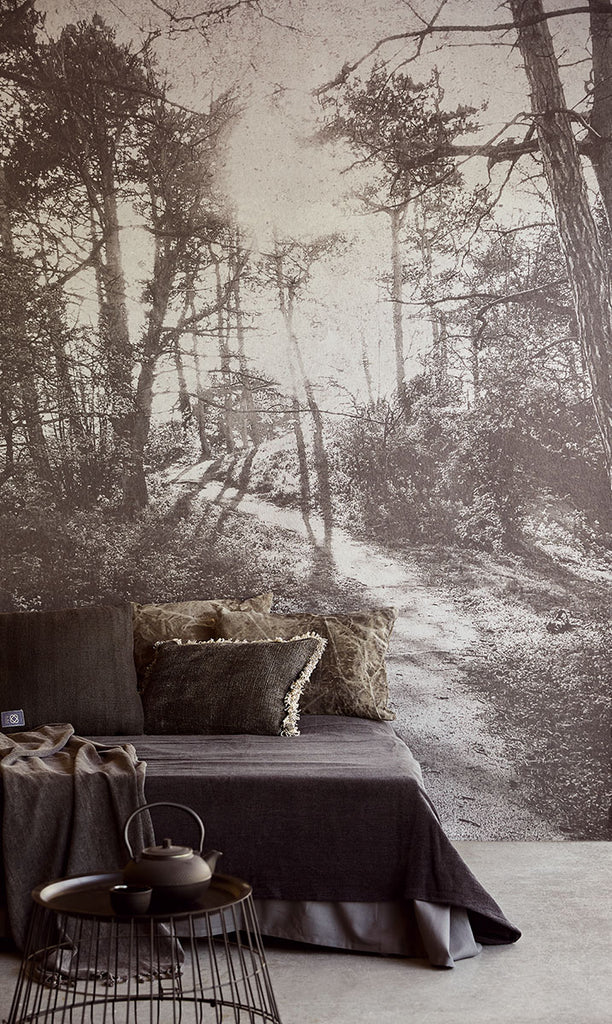 Into The Woods Wall Mural from the Lino Collection by Brewster Home Fashions