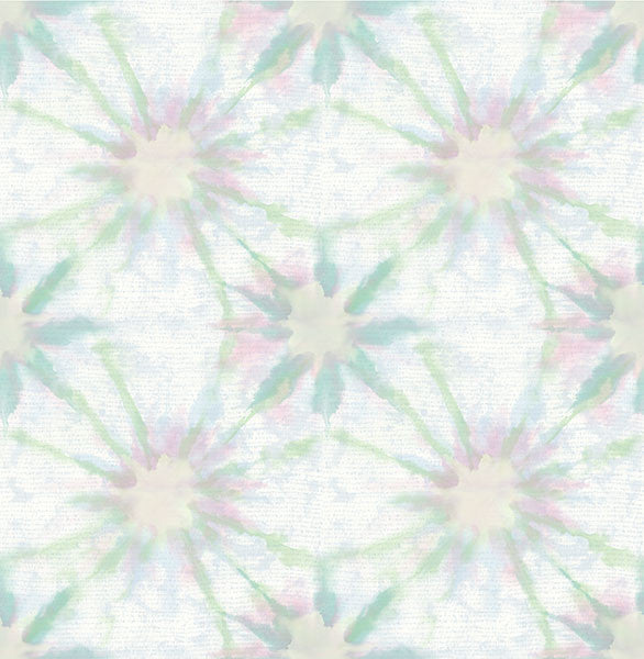 Sample Iris Green Shibori Wallpaper from the Kismet Collection by Brewster Home Fashions