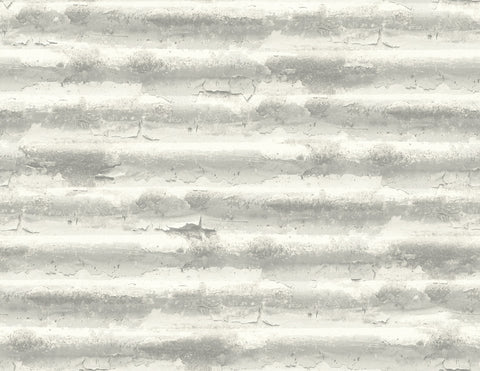 Iron Wallpaper in Grey and Ivory from the Solaris Collection by Mayflower Wallpaper