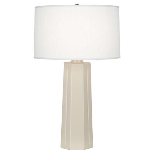 Mason Table Lamp (Multiple Colors) with Oyster Linen Shade design by Robert Abbey