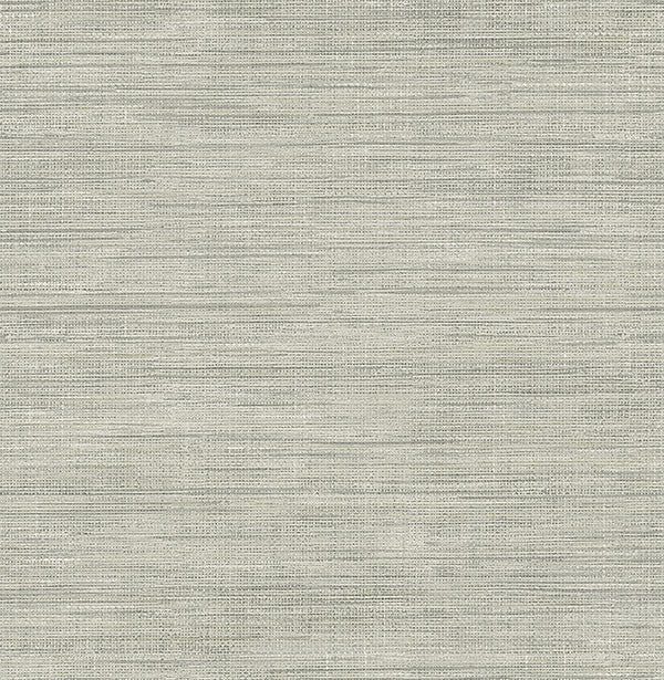 Sample Island Grey Faux Grasscloth Wallpaper from the Essentials Collection by Brewster Home Fashions