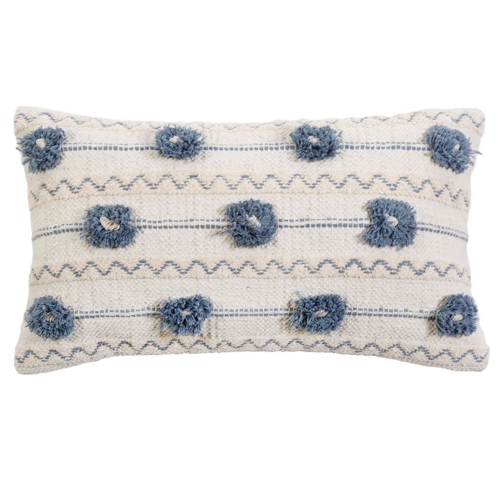 Izzy Handwoven Pillow with Insert by Pom Pom at Home