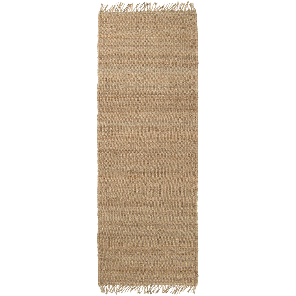 Jute Natural Collection Area Rug in Wheat