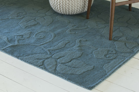 Jaipur Collection Hand-Tufted Area Rug in Blue design by Chandra rugs