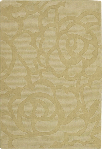 Jaipur Collection Hand-Tufted Area Rug in Gold design by Chandra rugs