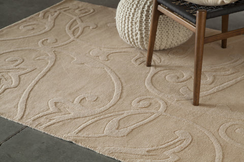 Jaipur Collection Hand-Tufted Area Rug in Beige design by Chandra rugs