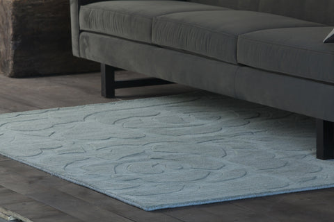 Jaipur Collection Hand-Tufted Area Rug in Light Blue design by Chandra rugs