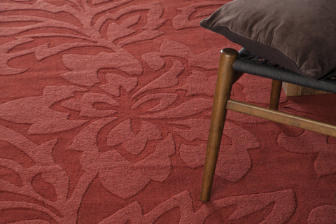 Jaipur Collection Hand-Tufted Area Rug in Red design by Chandra rugs