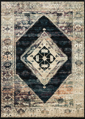 Jasmine Rug in Ink / Multi by Loloi