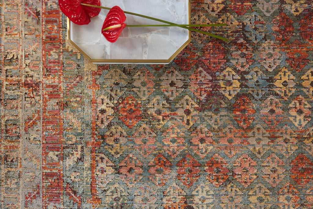 Javari Rug in Slate & Berry by Loloi