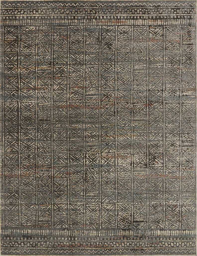 Javari Rug in Charcoal & Silver by Loloi