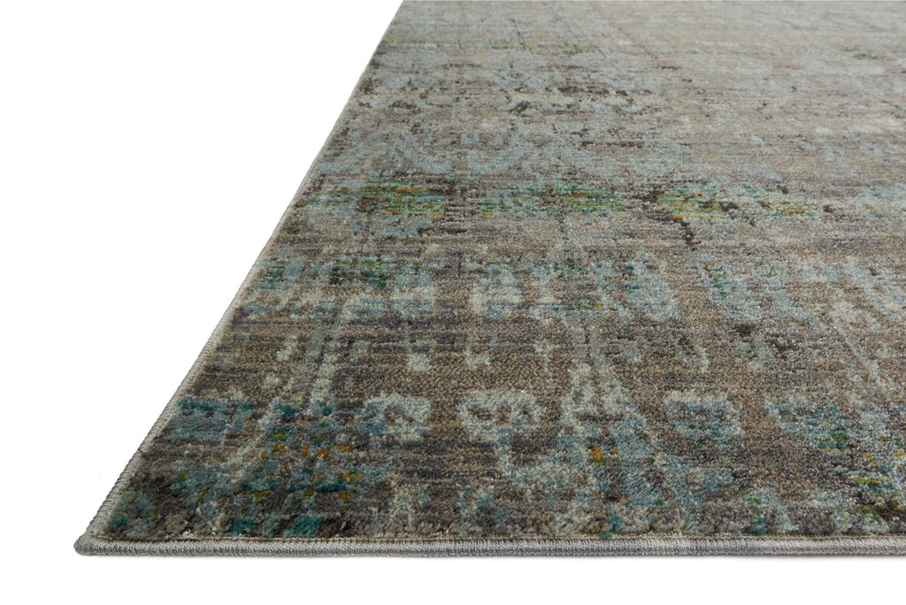 Javari Rug in Steel & Lagoon by Loloi