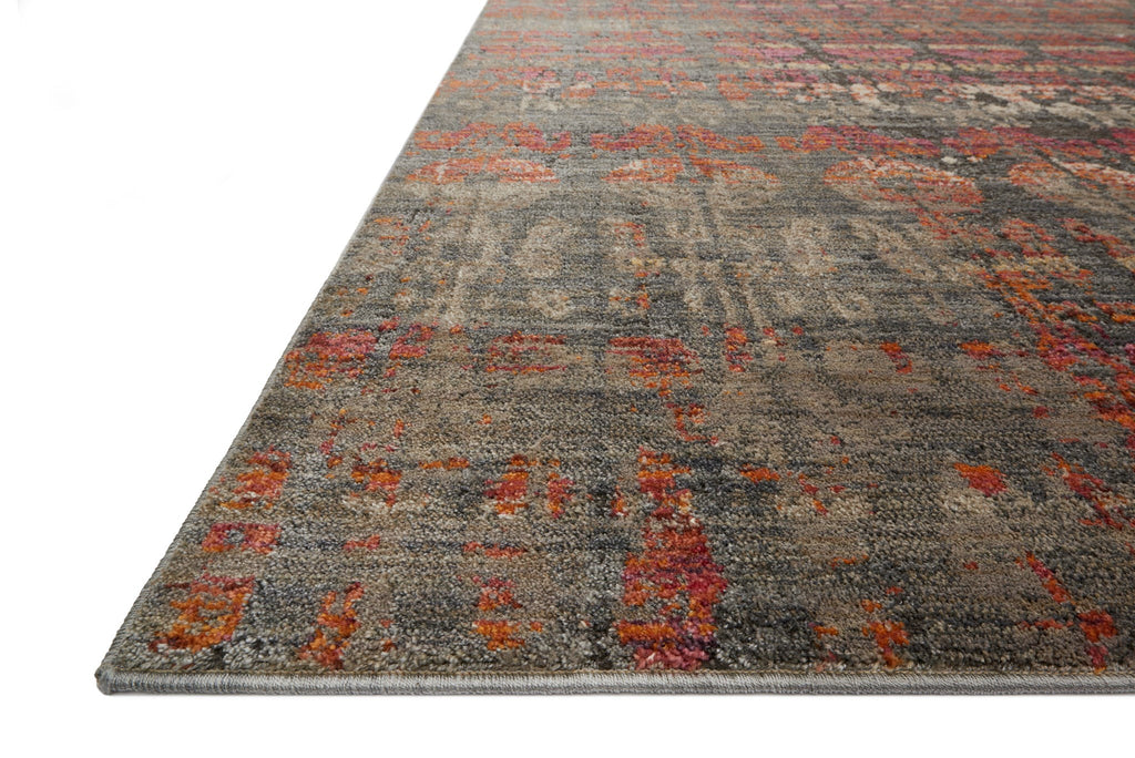 Javari Rug in Steel & Sunrise by Loloi