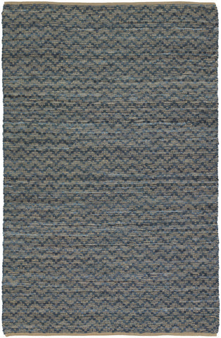 Jazz Collection Hand-Woven Area Rug in Tan & Grey