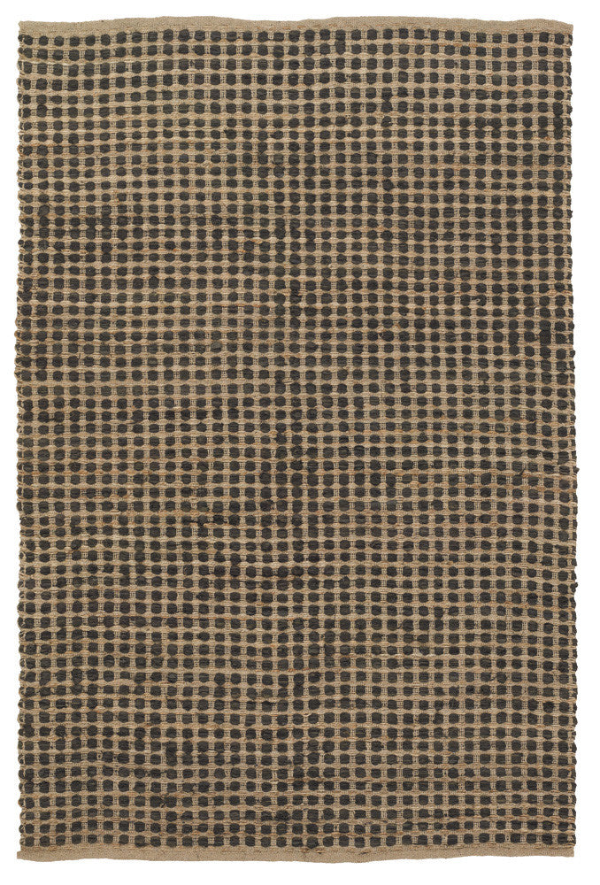 Jazz Collection Hand-Woven Area Rug in Tan & Black