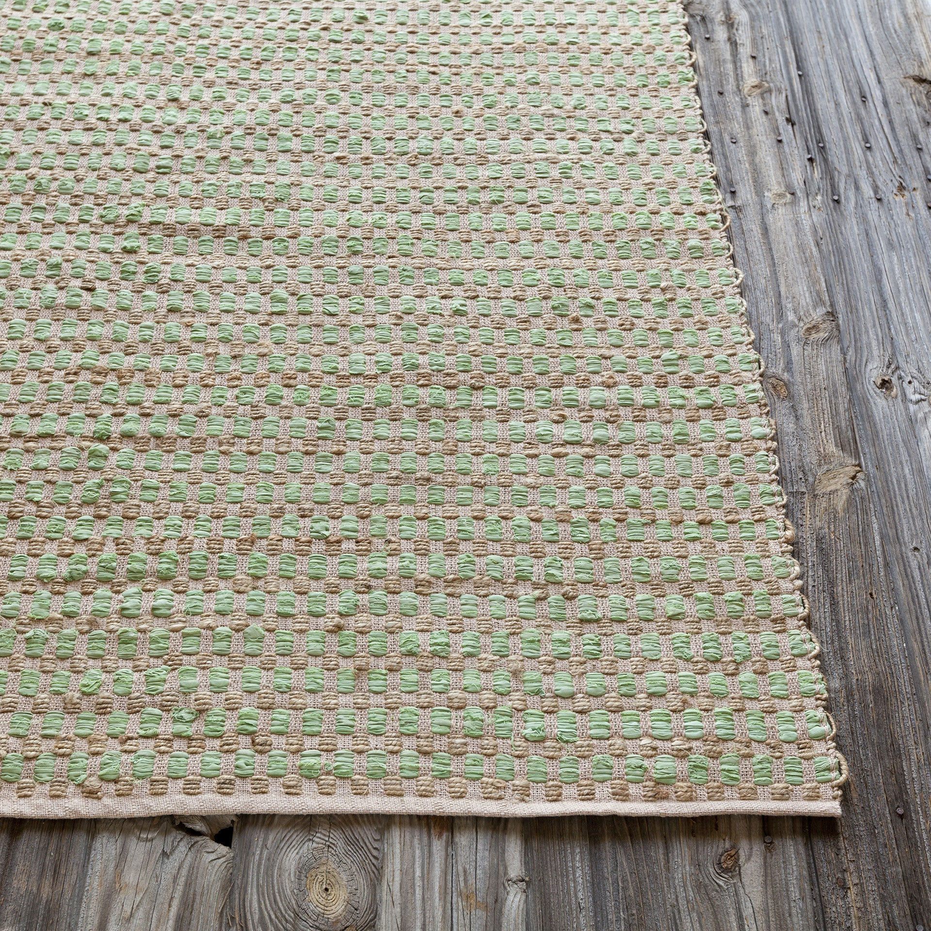 Jazz collection hand woven area rug in tan green design for Decor international handwoven rugs