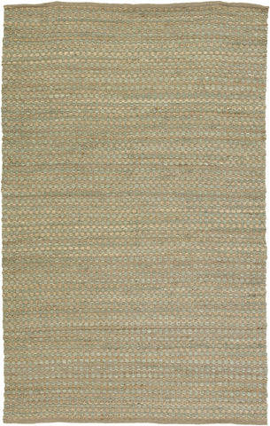 Jazz Collection Hand-Woven Area Rug in Tan & Green