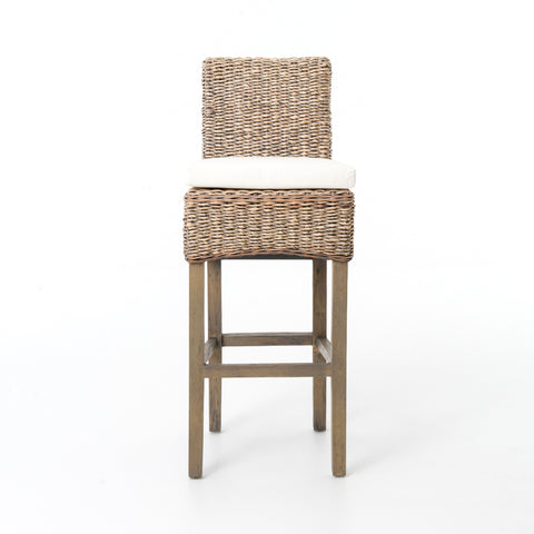Banana Leaf Bar Stool w/ Cushion design by BD Studio