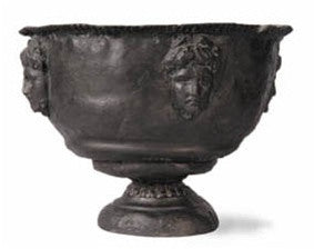 Devils Punchbowl Urn in Faux Lead Finish design by Capital Garden Products