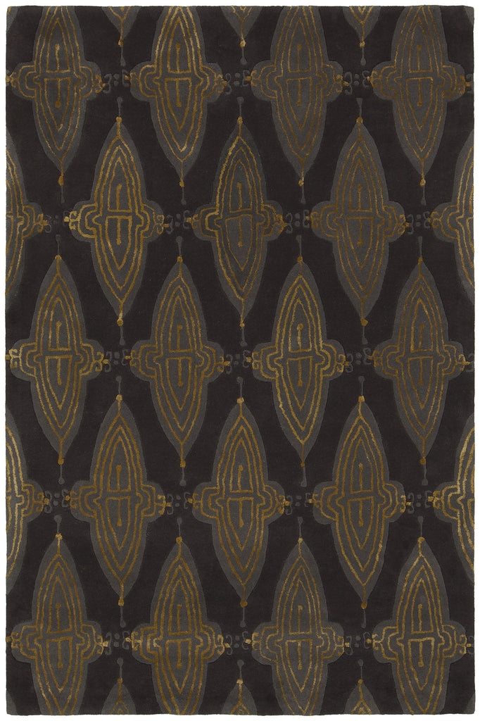 Jessica Swift Collection Hand-Tufted Wool Rug in Charcoal, Grey, & Gold design by Chandra Rugs