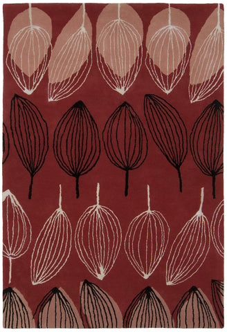 Jessica Swift Collection Hand-Tufted Wool Rug in Red design by Chandra Rugs