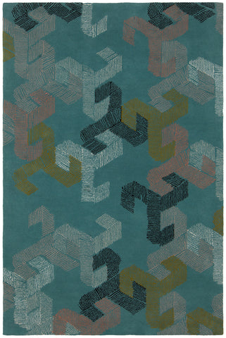 Jessica Swift Collection Hand-Tufted Wool Rug in Teal