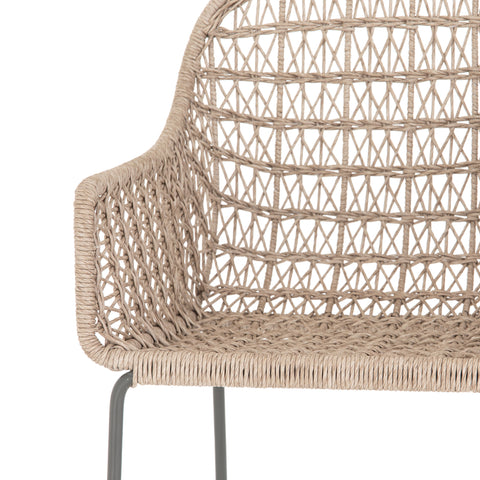 Bandera Outdoor Woven Bar Stool by BD Studio