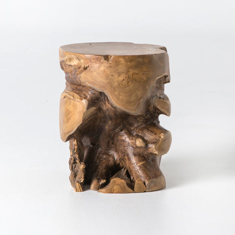 Teak Stool in Light Natural
