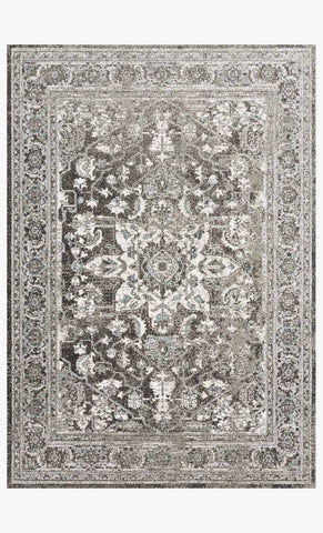 Joaquin Rug in Charcoal & Ivory by Loloi