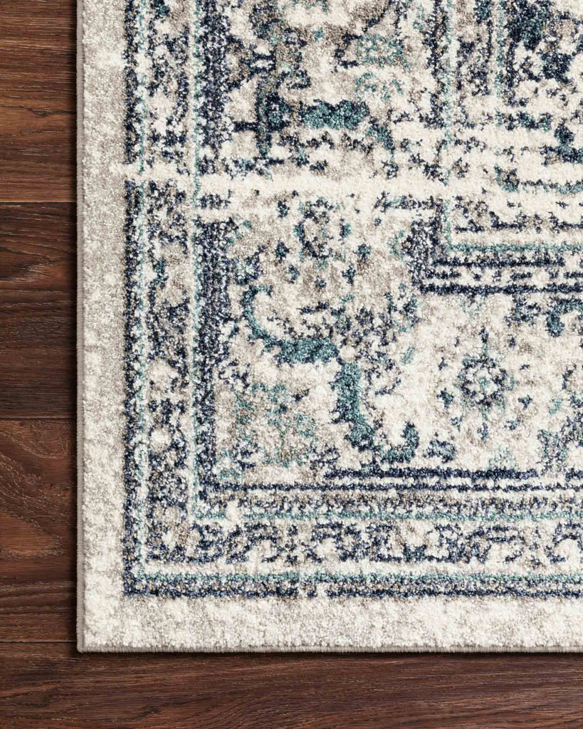 Joaquin Rug in Light Green & Blue by Loloi