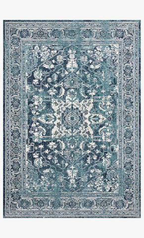 Joaquin Rug in Ocean & Ivory by Loloi
