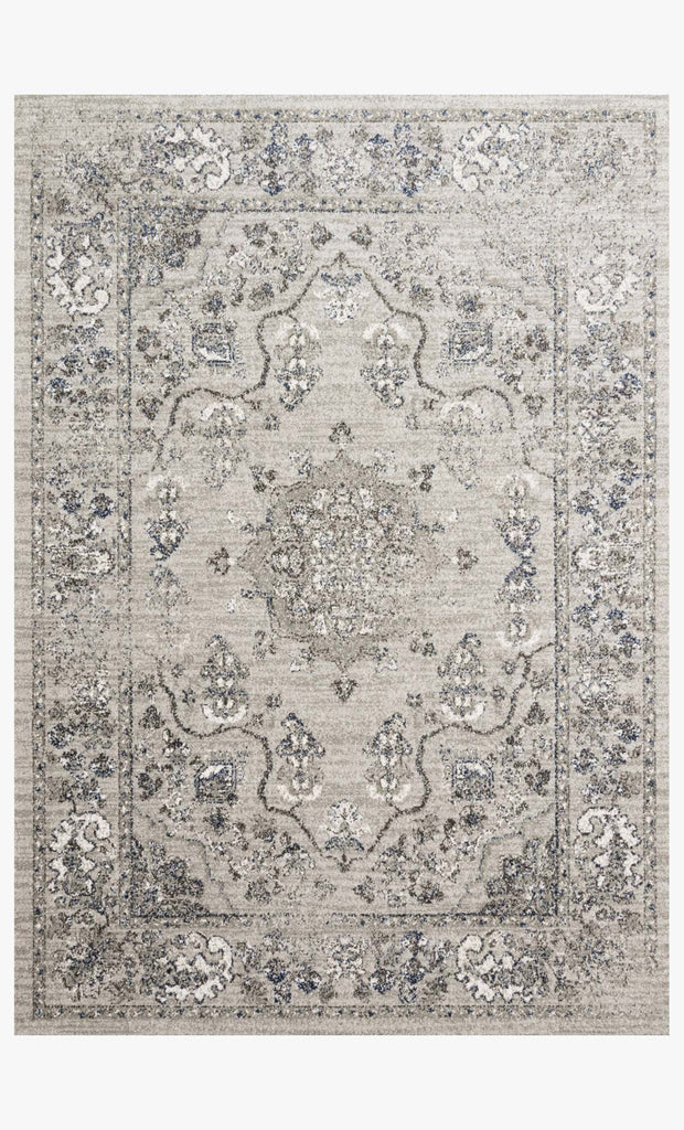 Joaquin Rug in Dove & Grey by Loloi