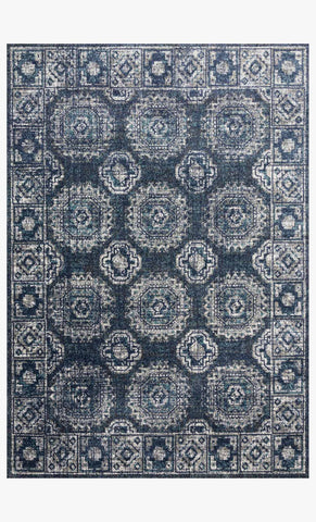 Joaquin Rug in Denim & Grey by Loloi