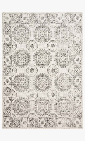 Joaquin Rug in Ivory & Charcoal by Loloi