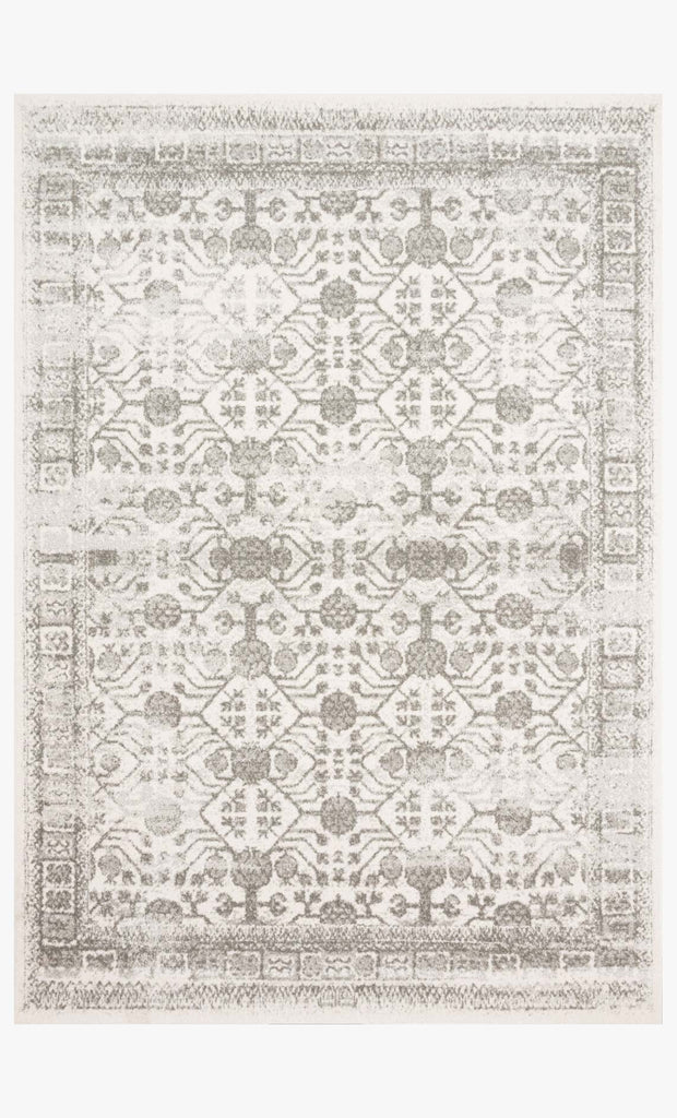 Joaquin Rug in Ivory & Grey by Loloi