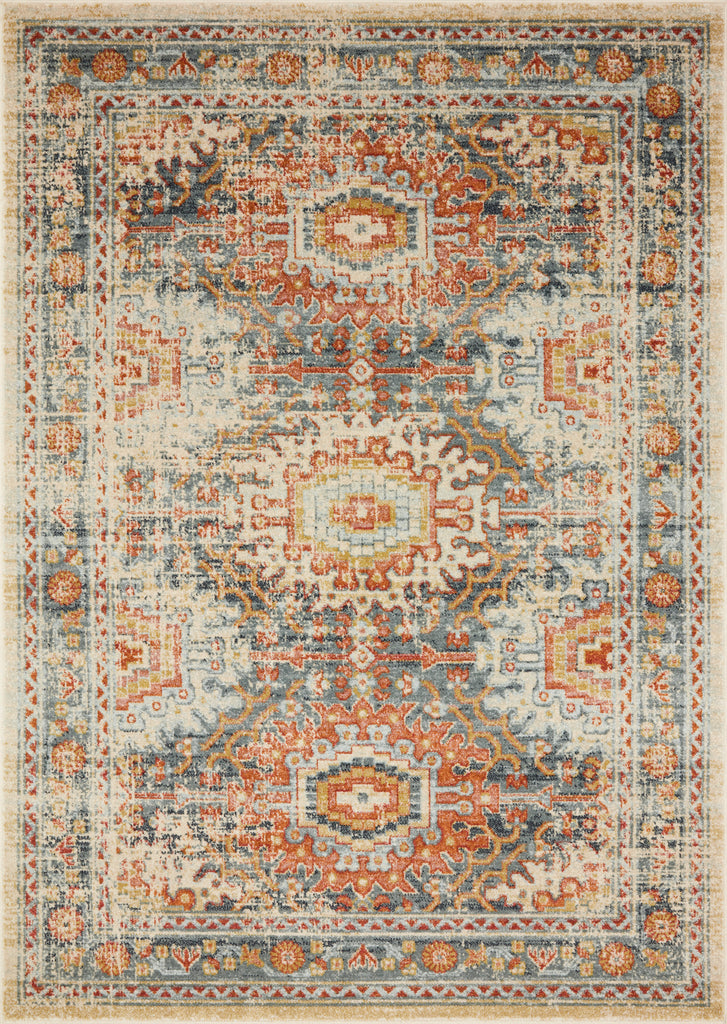 Jocelyn Rug in Mist / Multi by Loloi II