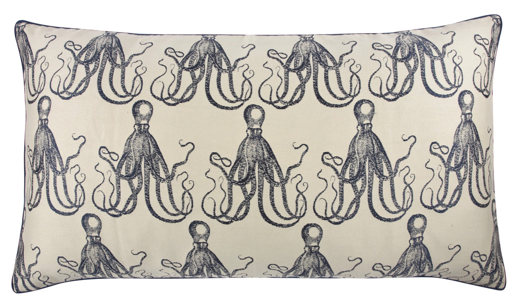 18‰۝ x 34‰۝ Octopus Jacquard Pillow design by Thomas Paul - BURKE DECOR