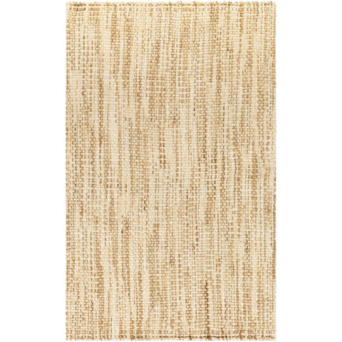 Jute Woven JS-1001 Hand Woven Rug in Wheat & Cream by Surya