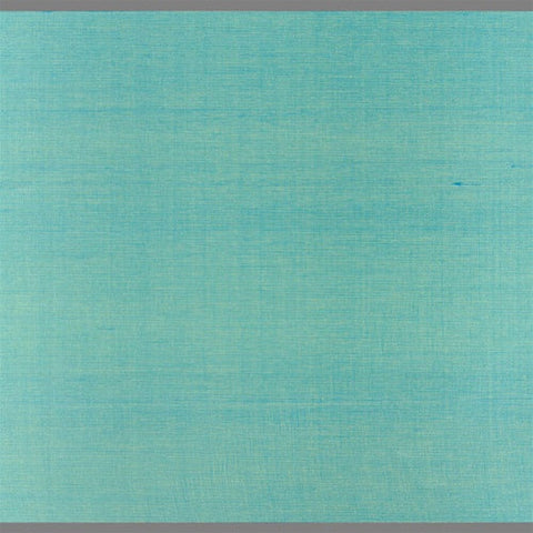 Turquoise Japanese Silk Wallcovering by Burke Decor