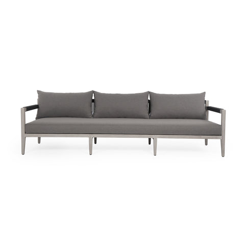 Sherwood Outdoor 3-Seater Sofa in Weathered Grey