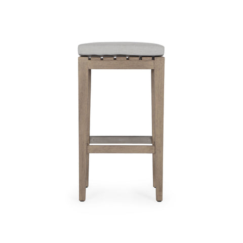 Dale Outdoor Bar Stool in Washed Brown