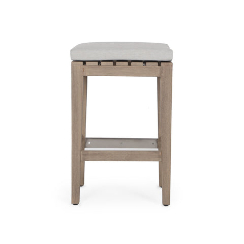 Dale Outdoor Counter Stool In Washed Brown