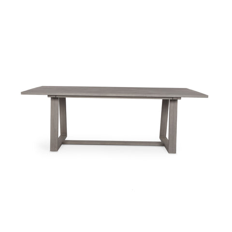 Atherton Outdoor Dining Table in Weathered Grey