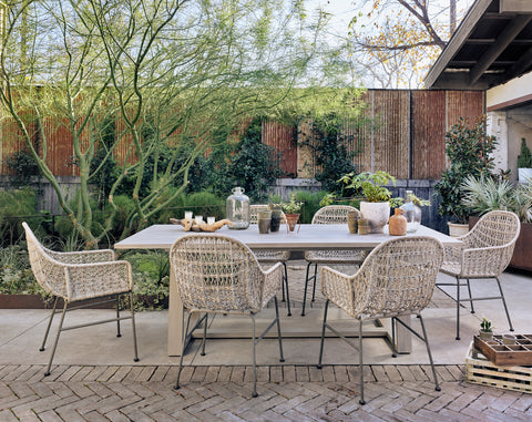 Atherton Outdoor Dining Table in Various Colors