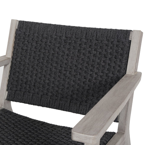 Delano Outdoor Chair in Weathered Grey by BD Studio