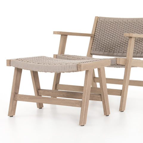 Delano Outdoor Chair & Ottoman in Various Colors
