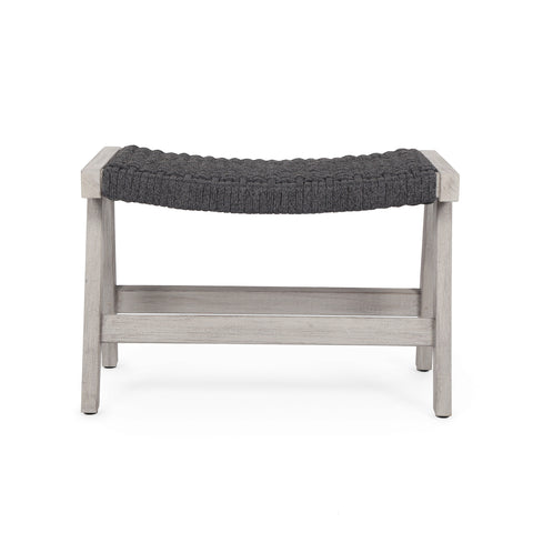 Delano Outdoor Ottoman In Weathered Grey