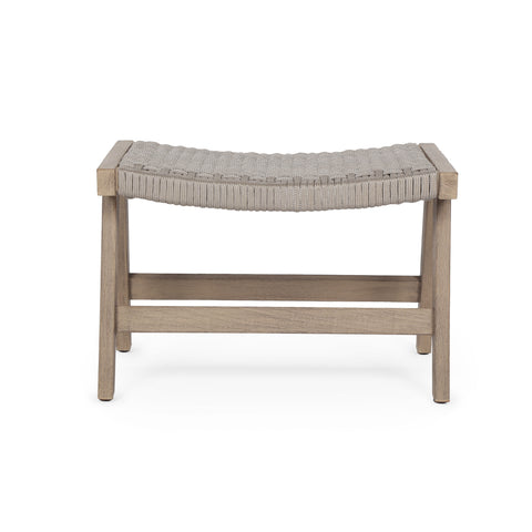 Delano Outdoor Ottoman in Washed Brown by BD Studio