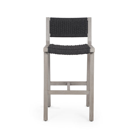 Delano Outdoor Bar Stool in Weathered Grey by BD Studio