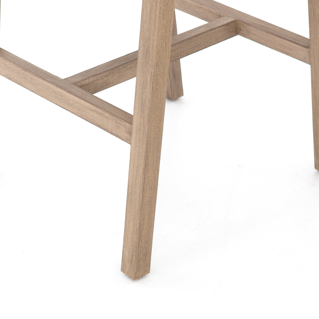 Delano Outdoor Bar Stool in Washed Brown